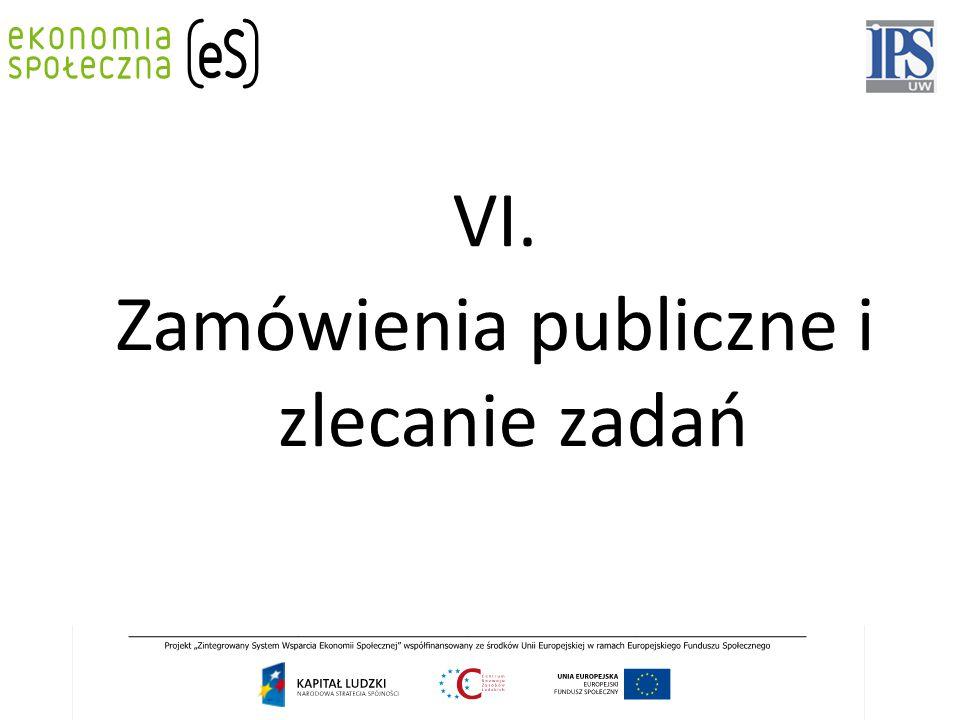 VI. Zamówienia publiczne i zlecanie zadań