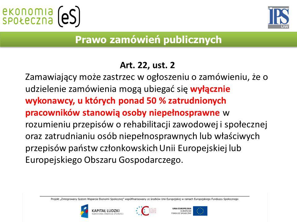 Prawo zamówień publicznych Art. 22, ust.