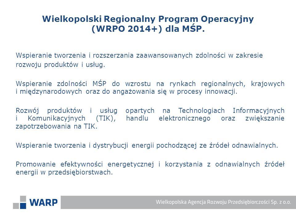 Wspieranie tworzenia i rozszerzania zaawansowanych zdolności w zakresie rozwoju produktów i usług. Wspieranie zdolności MŚP do wzrostu na rynkach regi