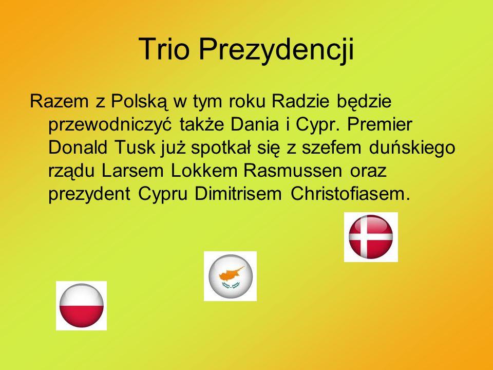 Trio Prezydencji Razem z Polską w tym roku Radzie będzie przewodniczyć także Dania i Cypr. Premier Donald Tusk już spotkał się z szefem duńskiego rząd