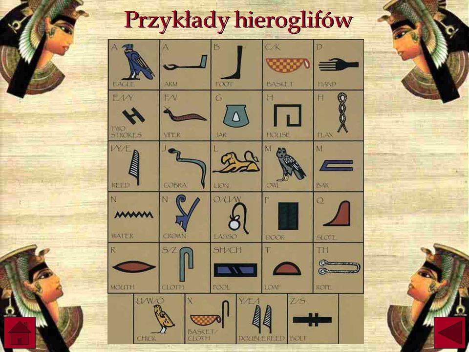 Przykłady hieroglifów