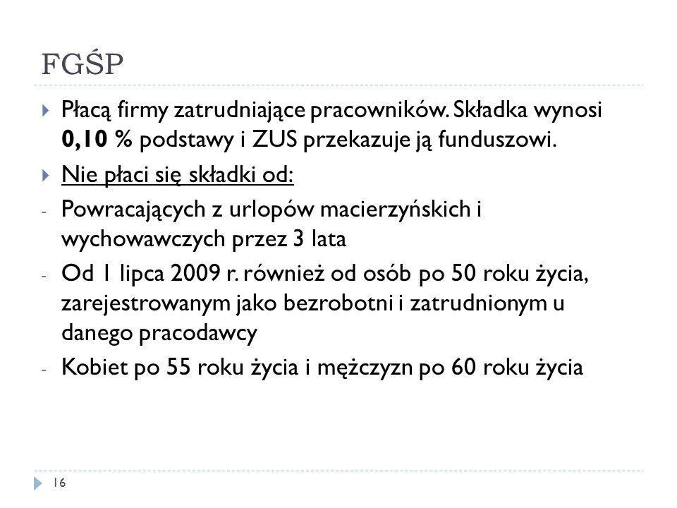 FGŚP 16  Płacą firmy zatrudniające pracowników.