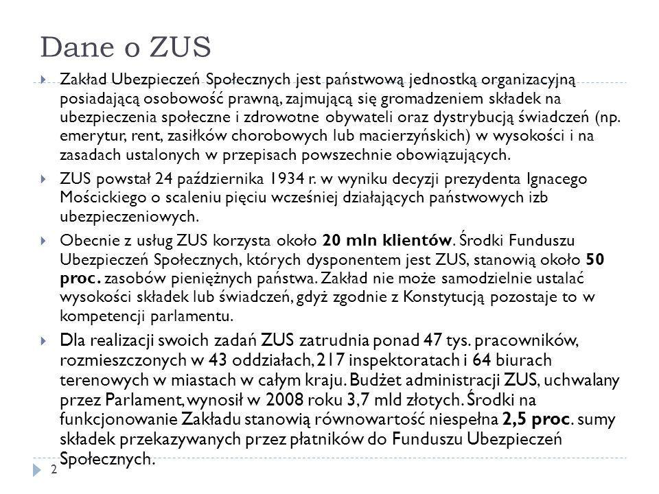 UBEZPIECZENIE WYPADKOWE  Kategoria ryzyka ustalana jest na podstawie danych za trzy kolejne lata kalendarzowe przekazywanych przez płatników składek do odpowiednich oddziałów lub inspektoratów ZUS na formularzu ZUS IWA w terminie do 1 lutego  Od 1 stycznia 2010 r.