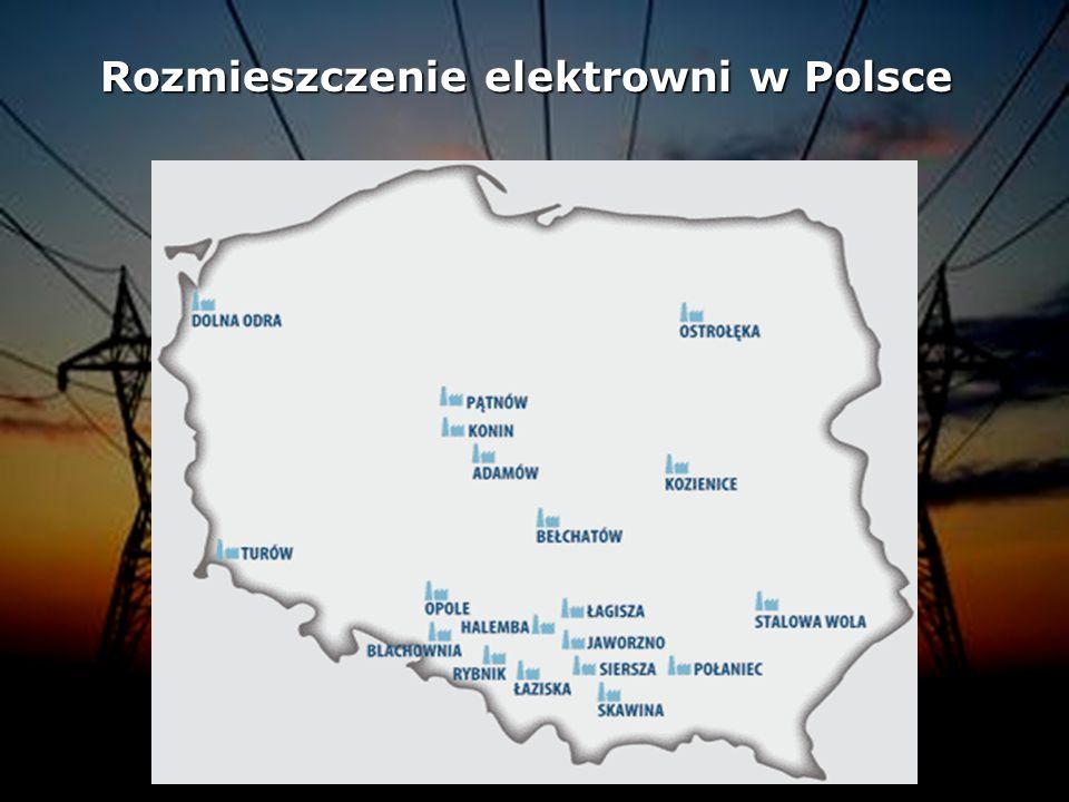 Rozmieszczenie elektrowni w Polsce