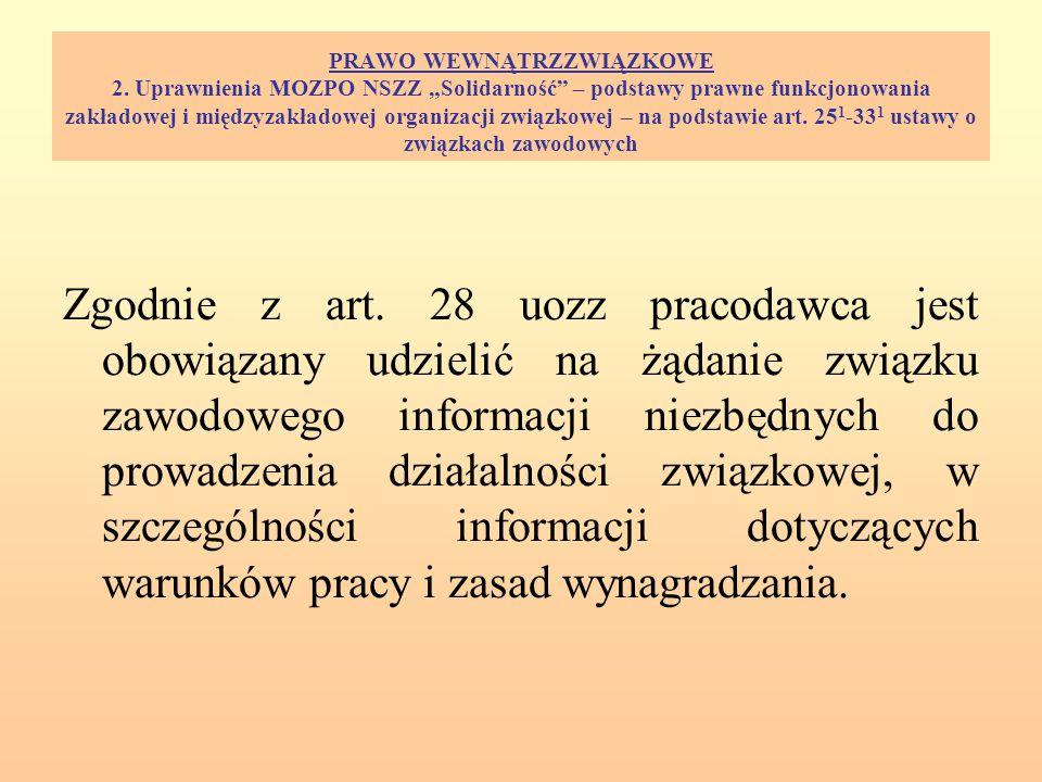 PRAWO WEWNĄTRZZWIĄZKOWE 2.
