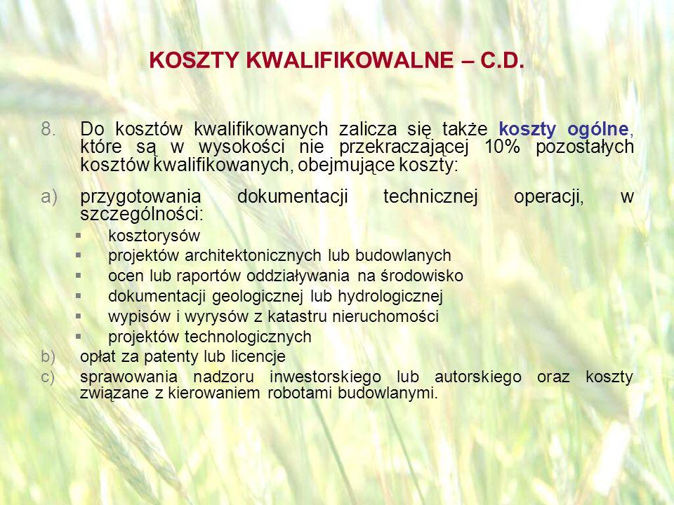 opracował: Bartłomiej Raczek27 BRAK FINANSOWANIA Wsparciu finansowemu nie podlegają w szczególności:  koszty nabycia nieruchomości  koszty podatku VAT  koszty zakupu używanego sprzętu, maszyn i urządzeń.