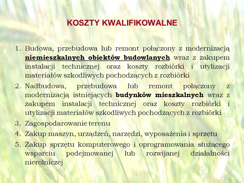 opracował: Bartłomiej Raczek36 KOSZTY KWALIFIKOWALNE – C.D.