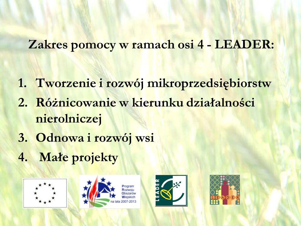 opracował: Bartłomiej Raczek10 Odnowa i rozwój wsi w ramach osi IV LEADER