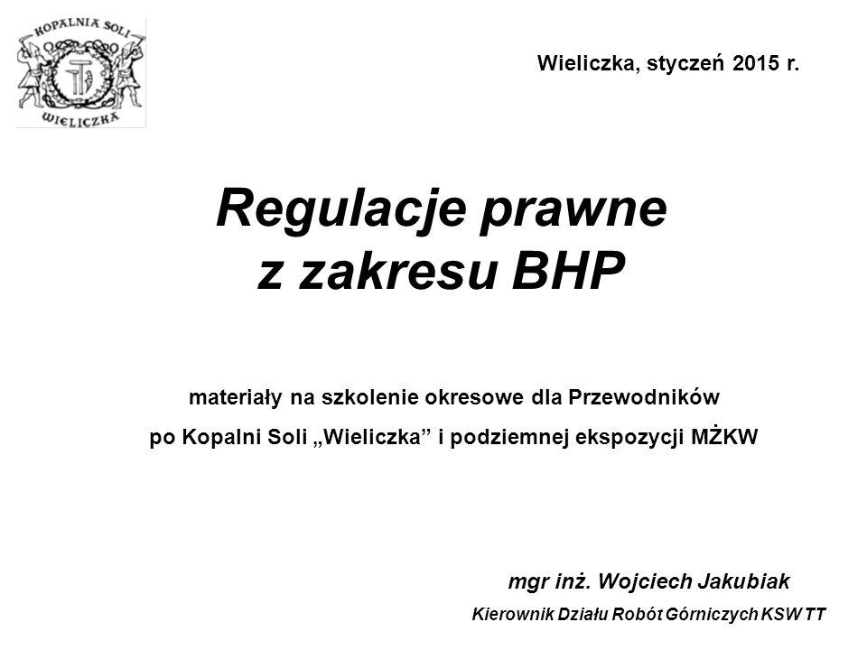 Regulacje prawne z zakresu BHP mgr inż.