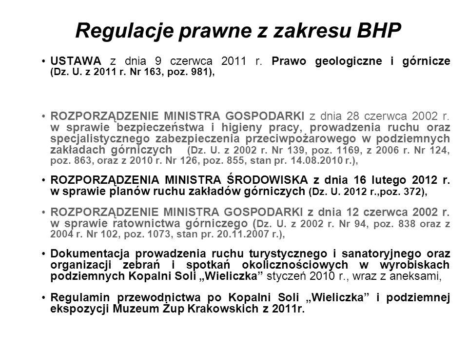 Regulacje prawne z zakresu BHP USTAWA z dnia 9 czerwca 2011 r.