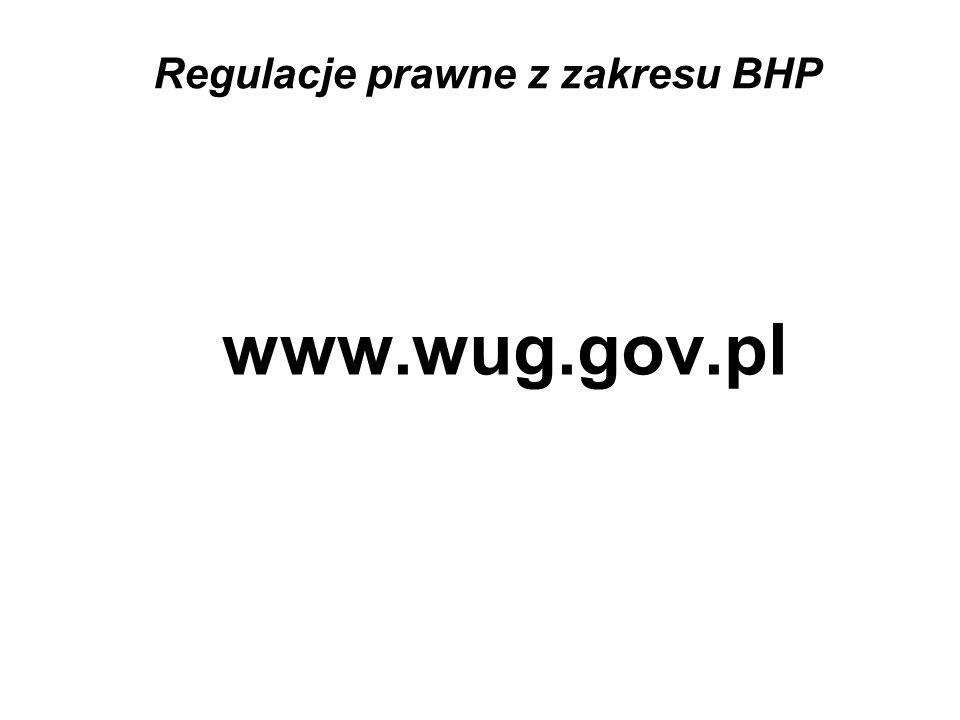 Regulacje prawne z zakresu BHP www.wug.gov.pl