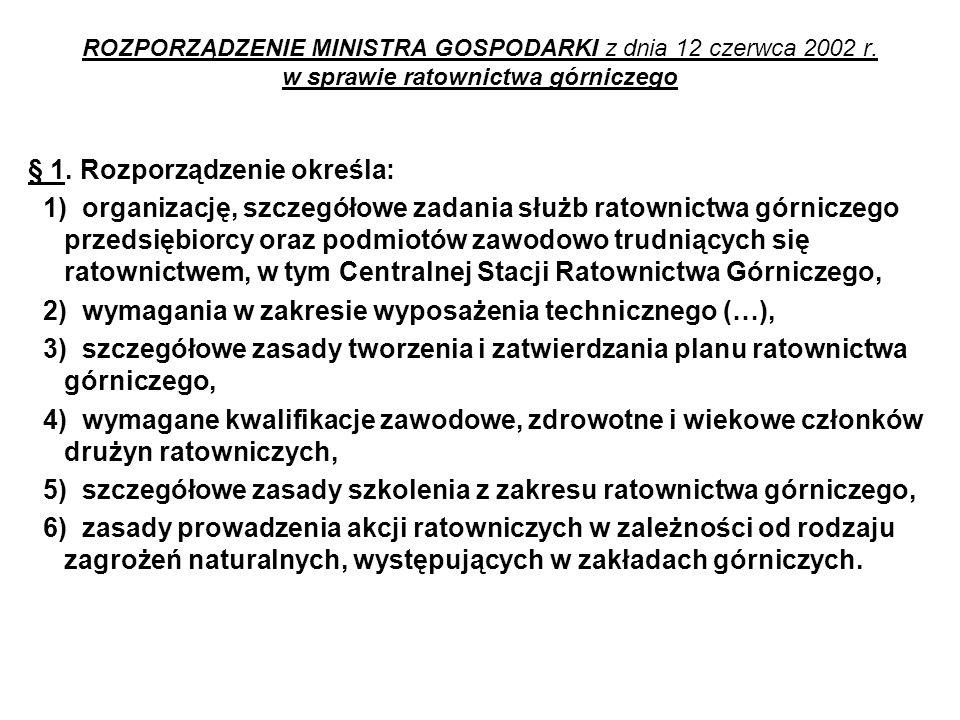 ROZPORZĄDZENIE MINISTRA GOSPODARKI z dnia 12 czerwca 2002 r.