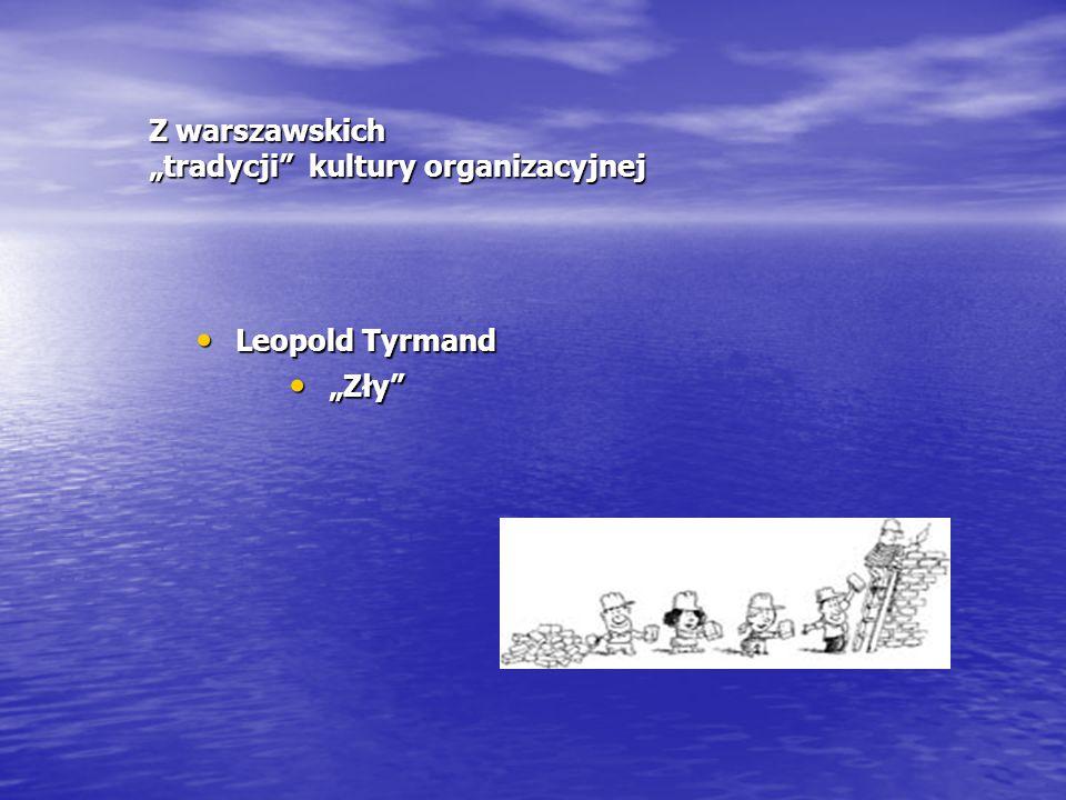 """Z warszawskich """"tradycji"""" kultury organizacyjnej Leopold Tyrmand Leopold Tyrmand """"Zły"""" """"Zły"""""""