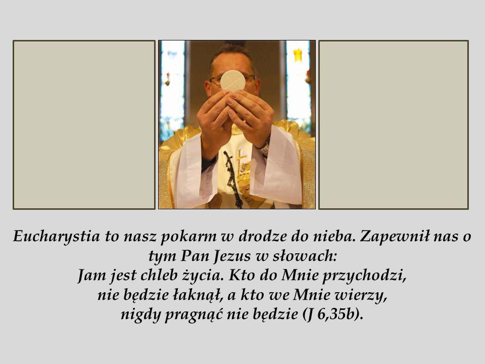 Eucharystia to nasz pokarm w drodze do nieba.
