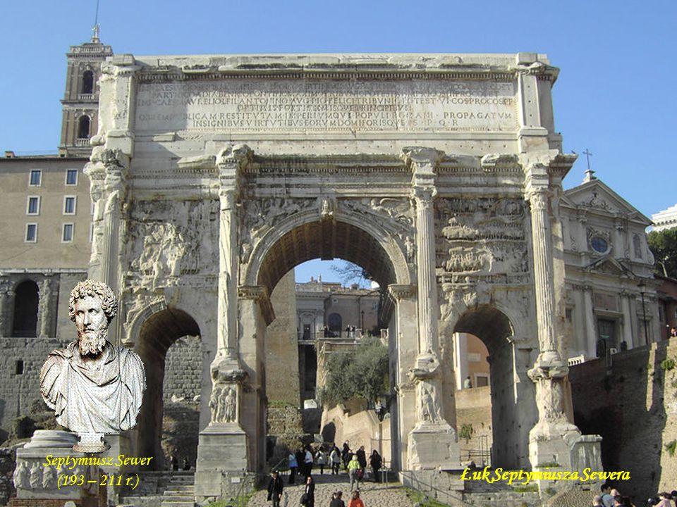 Łuk Konstantyna - zbudowany w latach 312 – 315 dla uhonorowania dziesięciolecia sprawowania władzy przez cesarza Konstantyna oraz dla uczczenia jego z