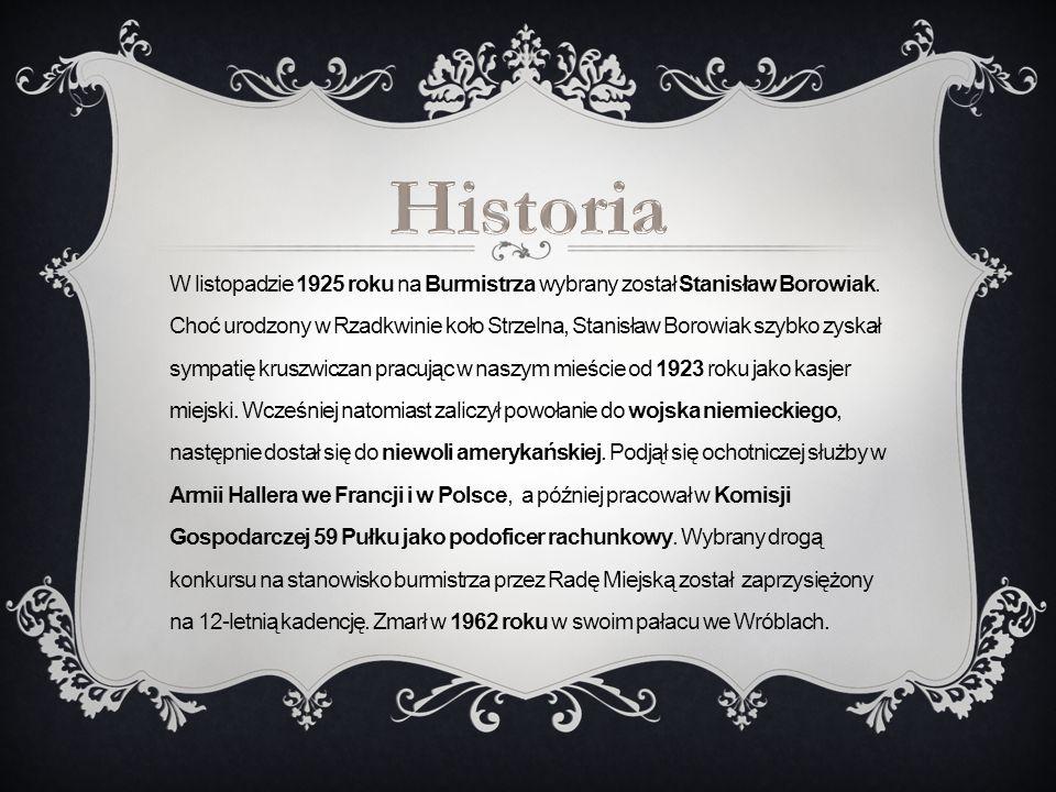 W listopadzie 1925 roku na Burmistrza wybrany został Stanisław Borowiak. Choć urodzony w Rzadkwinie koło Strzelna, Stanisław Borowiak szybko zyskał sy