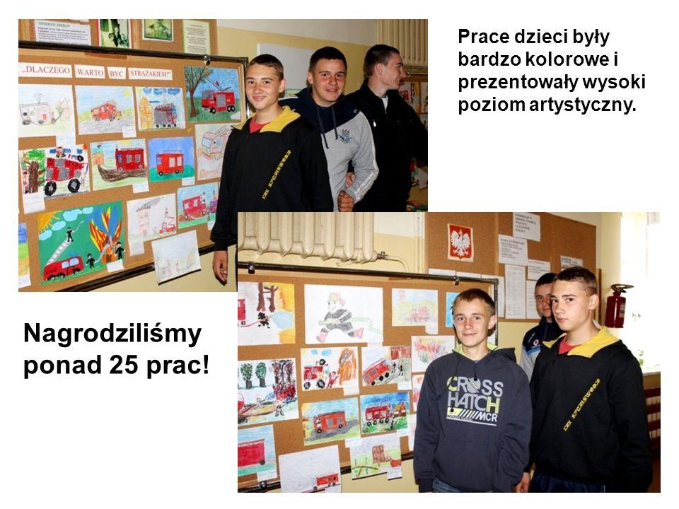 Prace dzieci były bardzo kolorowe i prezentowały wysoki poziom artystyczny. Nagrodziliśmy ponad 25 prac!