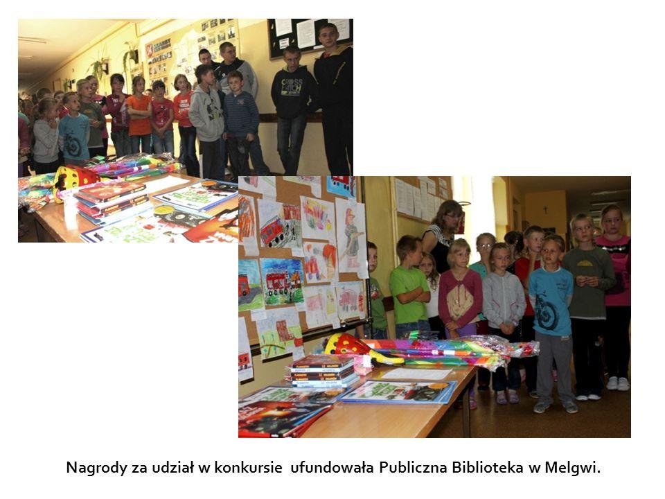 Nagrody za udział w konkursie ufundowała Publiczna Biblioteka w Melgwi.