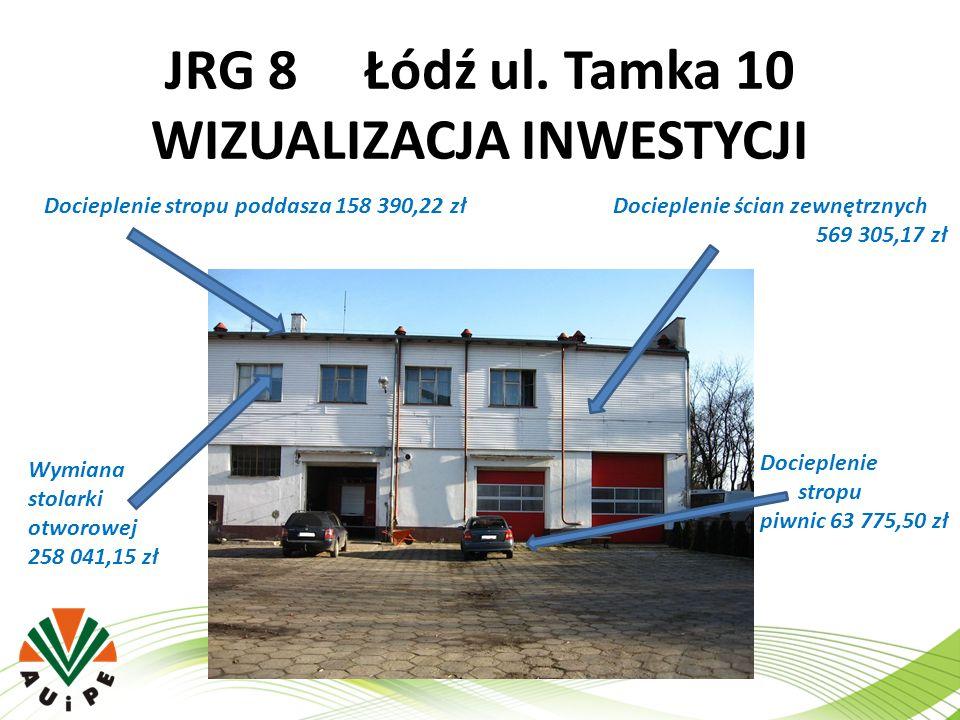 JRG 8 Łódź ul. Tamka 10 WIZUALIZACJA INWESTYCJI Docieplenie stropu poddasza 158 390,22 złDocieplenie ścian zewnętrznych 569 305,17 zł Wymiana stolarki