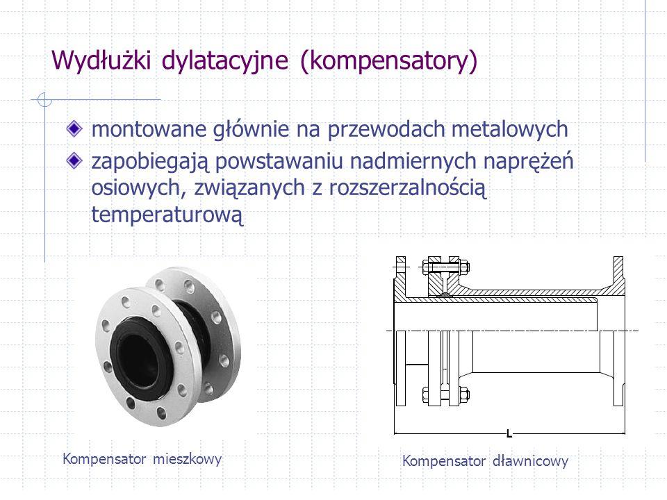 Wydłużki dylatacyjne (kompensatory) montowane głównie na przewodach metalowych zapobiegają powstawaniu nadmiernych naprężeń osiowych, związanych z roz
