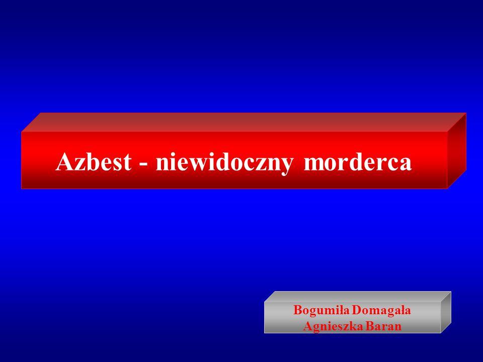 Azbest - niewidoczny morderca Bogumiła Domagała Agnieszka Baran