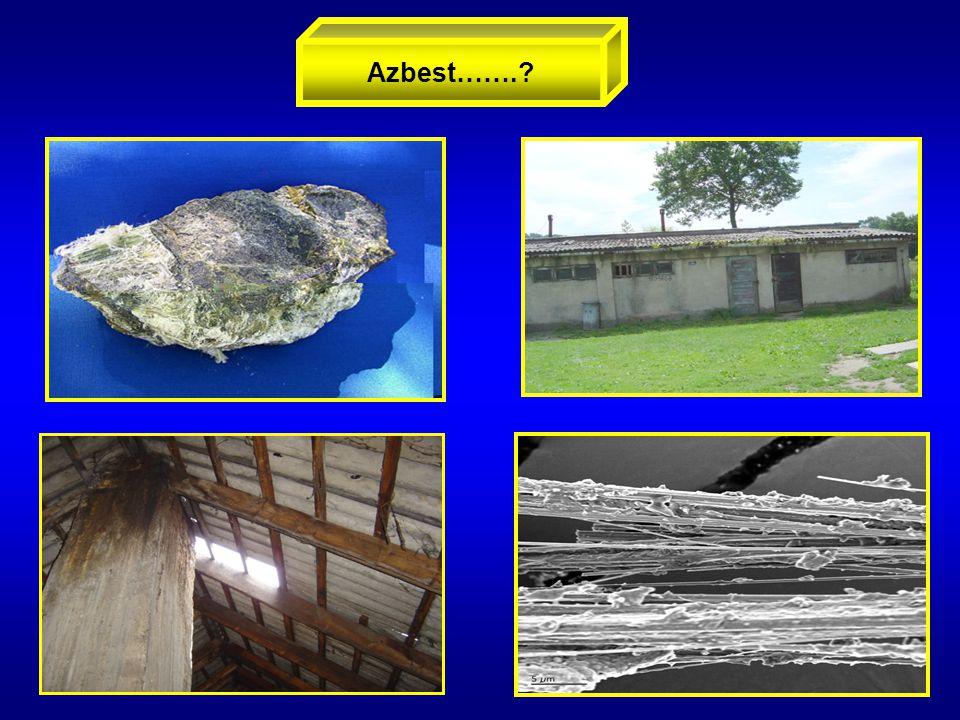 Właściwości azbestu Azbest Azbest to handlowa nazwa minerałów włóknistych, które pod względem chemicznym są uwodnionymi krzemianami Mg, Fe, Ca, Na odporność na działanie mrozu, kwasów, substancji żrących- obojętność chemiczna odporność elektryczna, na ścieranie, elastyczność odporność na wysokie temperatury, niepalność Unikalne właściwości azbestu – surowiec w 3000 opisanych technologii