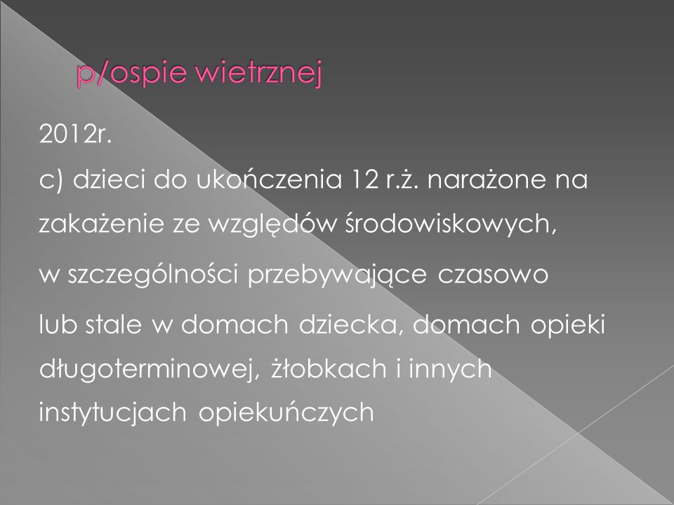 2012r.c) dzieci do ukończenia 12 r.ż.