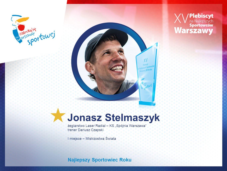 """Jonasz Stelmaszyk żeglarstwo Laser Radial – KS """"Spójnia Warszawa"""" trener Dariusz Czapski I miejsce – Mistrzostwa Świata Najlepszy Sportowiec Roku"""