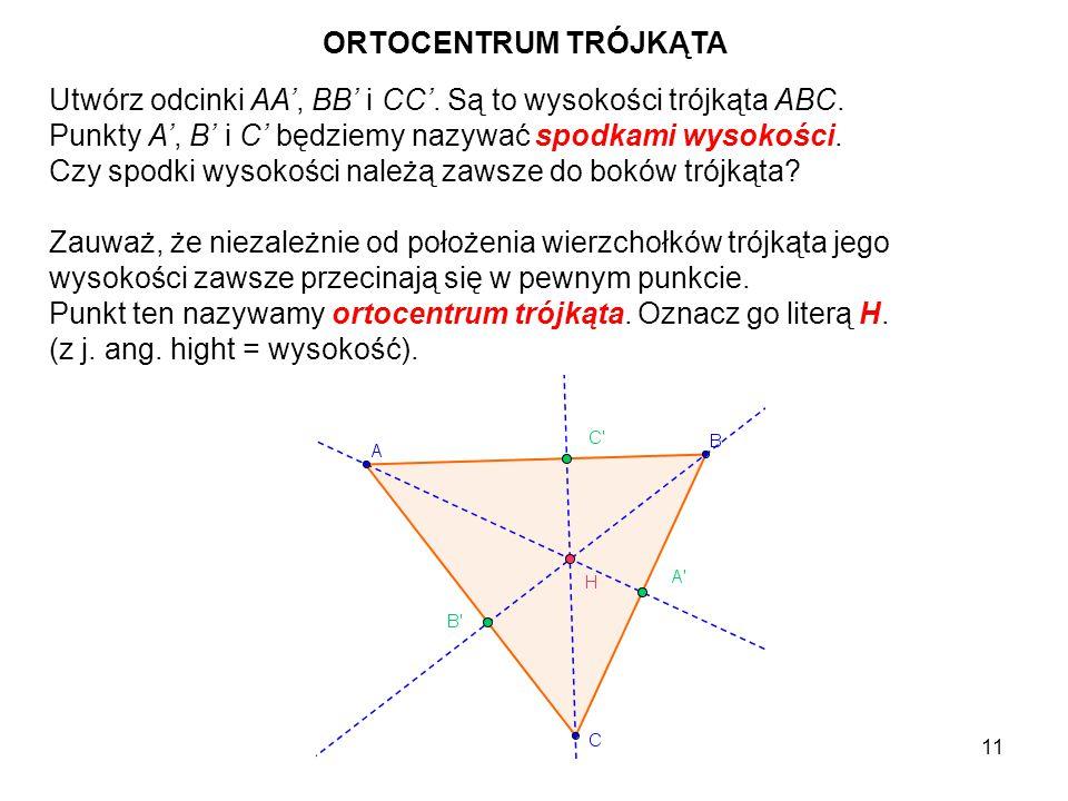 12 Obierz na każdym z boków trójkąta po jednym dowolnym punkcie i oznacz je kolejno: K na boku AB, L na boku CB i M na boku AC.