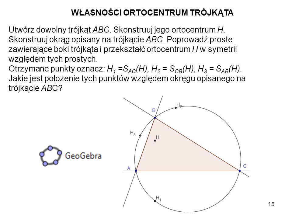16 Skonstruuj środki A', B', C' boków trójkąta ABC.