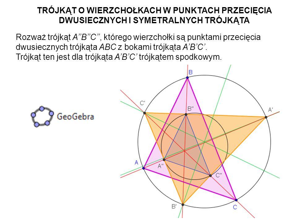 42 Jakie jest jego położenie względem trójkąta ABC.