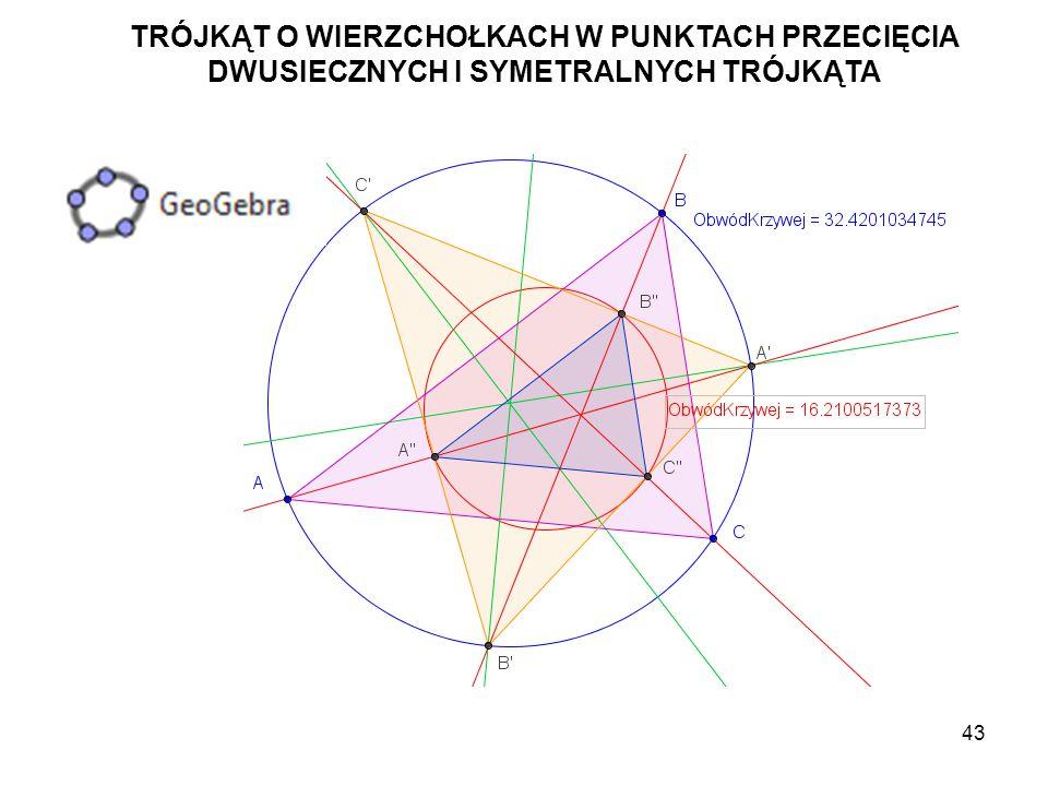 44 Utwórz okrąg o(A',A'B).Które jeszcze punkty należą do tego okręgu.