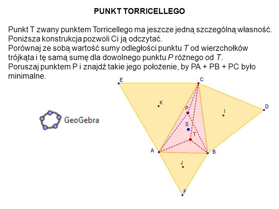 60 Problem poszukiwania punktu P, dla którego PA + PB + PC jest minimalne postawił francuski matematyk Pierre Fermat.
