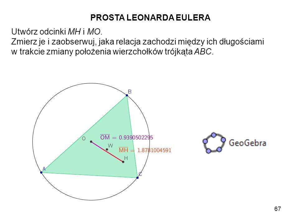 68 Rozważ w dowolnym trójkącie ABC środki A', B' i C' jego boków i skonstruuj okrąg przechodzący przez te punkty.