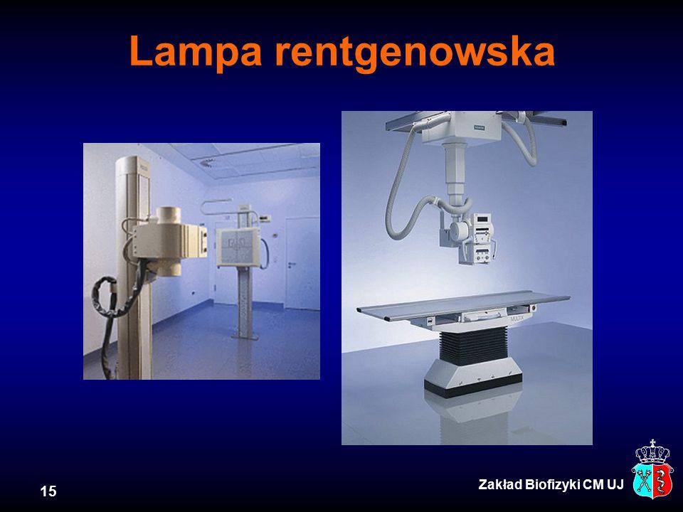 15 Zakład Biofizyki CM UJ Lampa rentgenowska