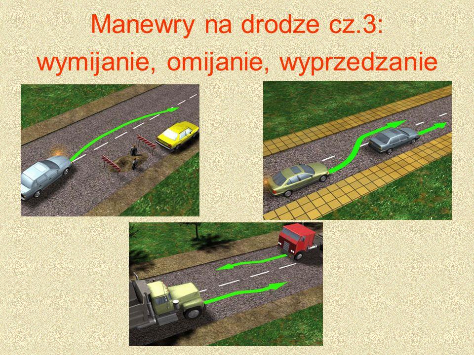 Na skrzyżowaniach, z wyjątkiem skrzyżowań o ruchu okrężnym lub na których ruch jest kierowany.