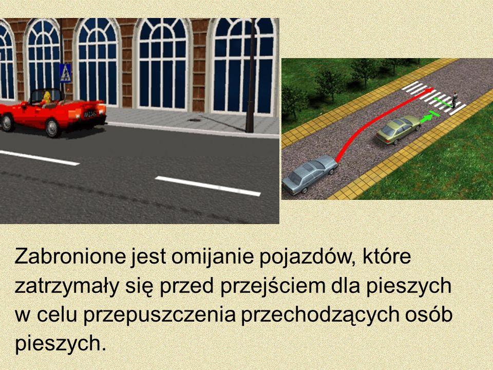 Kierującemu pojazdem zabrania się wyprzedzania pojazdu na przejeździe kolejowym i bezpośrednio przed nim.