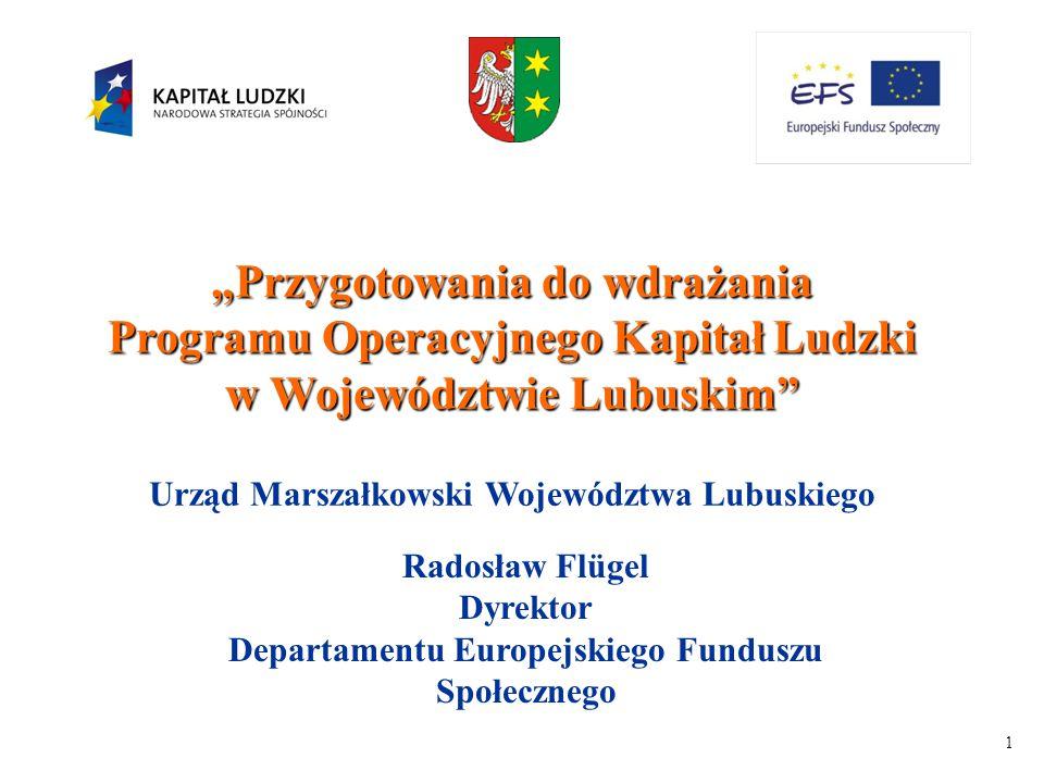 2 Program Operacyjny Kapitał Ludzki Obejmuje całość środków Europejskiego Funduszu Społecznego w Polsce w latach 2007 - 2013 W latach 2004-2006 działania Europejskiego Funduszu Społecznego były realizowane w ramach II Priorytetu ZPORR, SPO RZL, IW EQUAL