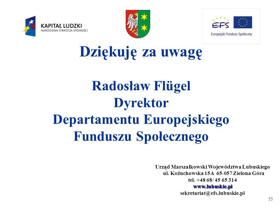 55 Urząd Marszałkowski Województwa Lubuskiego ul. Kożuchowska 15A 65-057 Zielona Góra ul.