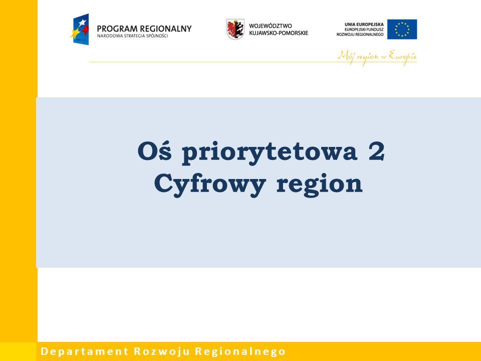 Departament Rozwoju Regionalnego Oś priorytetowa 2 Cyfrowy region