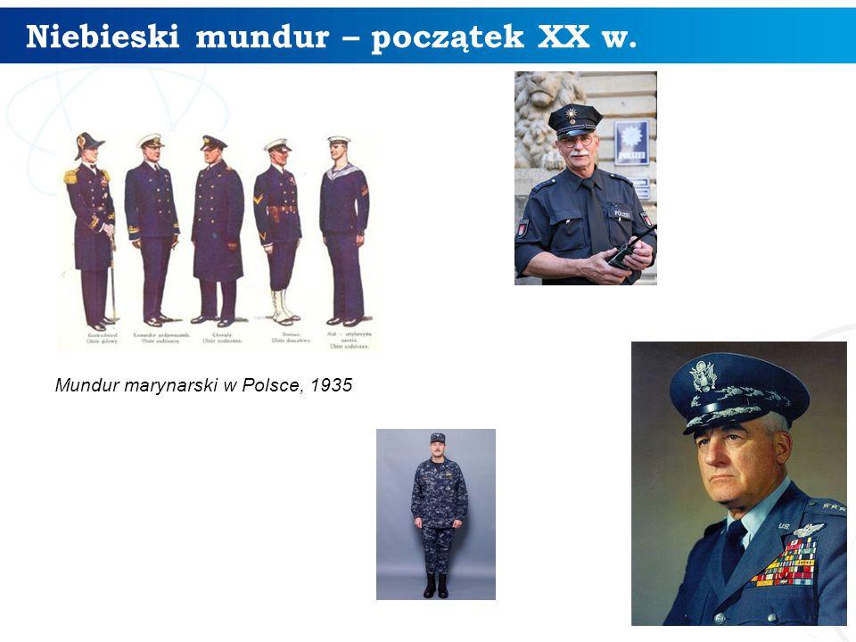 Niebieski mundur – początek XX w. 30 Mundur marynarski w Polsce, 1935