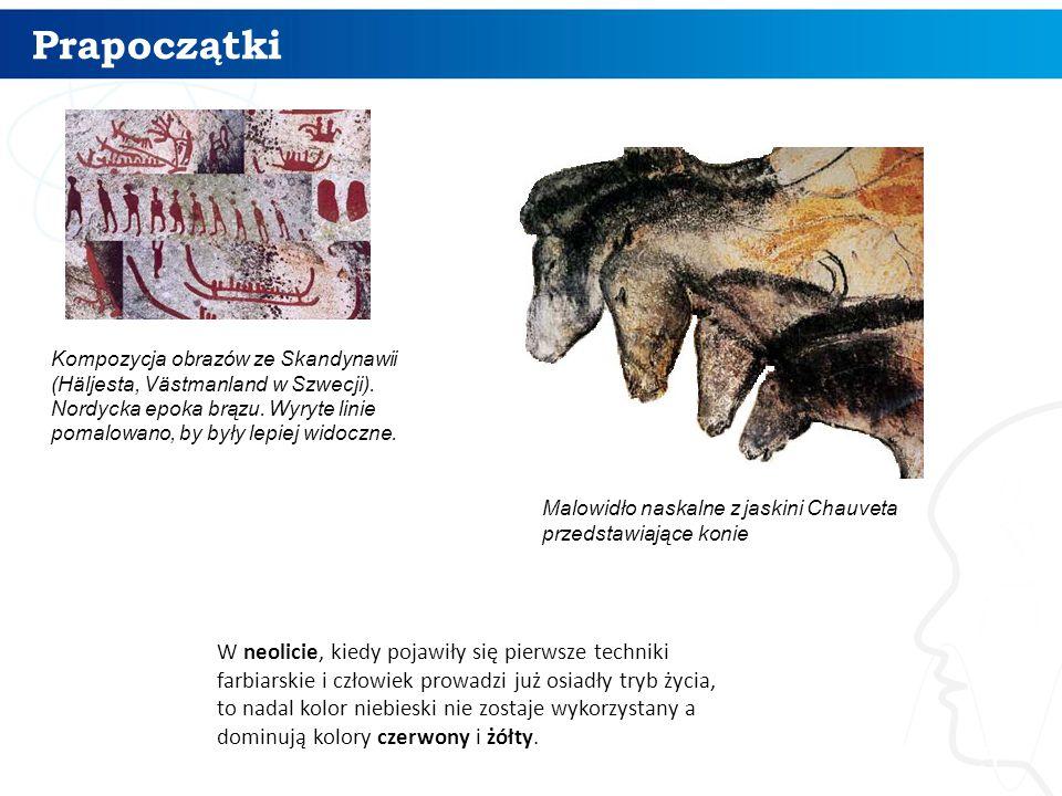 Prapoczątki 5 Malowidło naskalne z jaskini Chauveta przedstawiające konie Kompozycja obrazów ze Skandynawii (Häljesta, Västmanland w Szwecji).