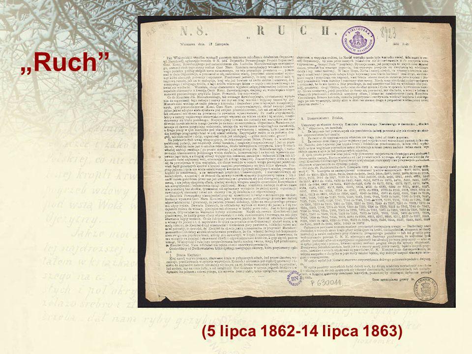 "(5 lipca 1862-14 lipca 1863) ""Ruch"""