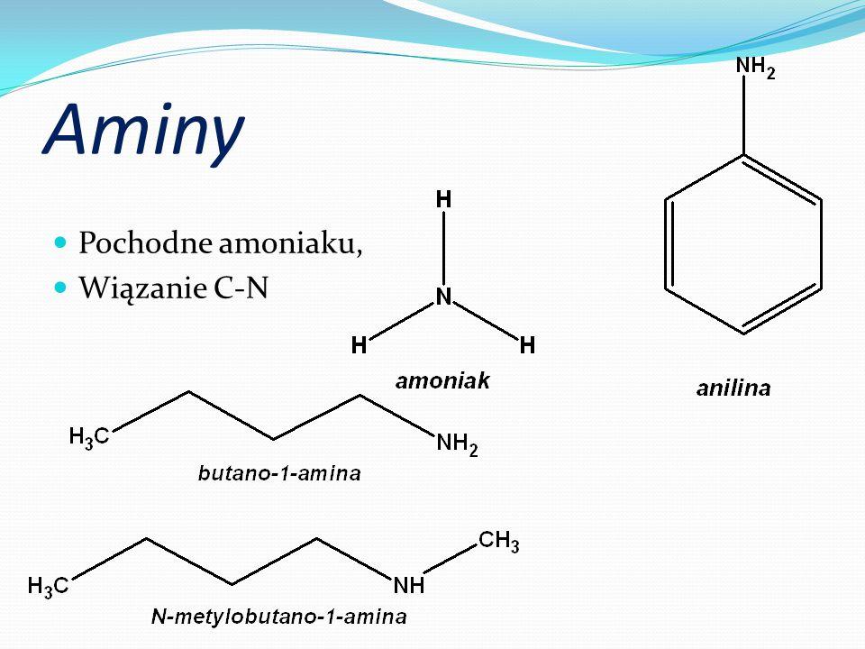 Aminy Pochodne amoniaku, Wiązanie C-N