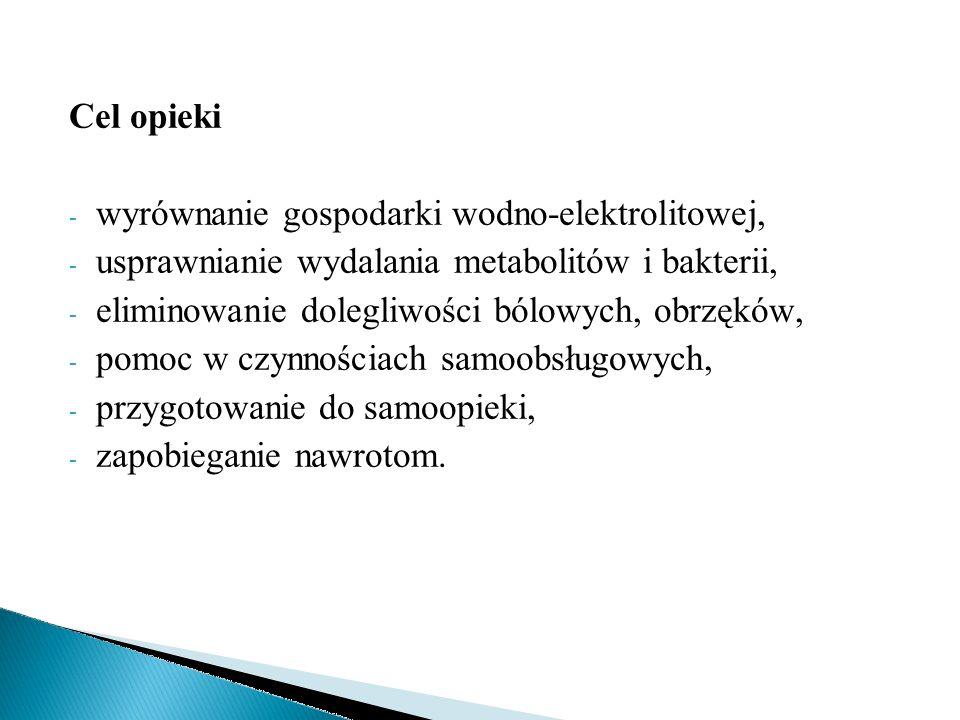 Problem pielęgnacyjny: obrzęki spowodowane zaburzeniem procesu filtracji w kłębuszkach nerkowych w przebiegu ostrego KZN.