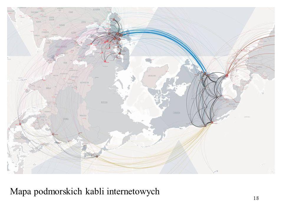 18 Mapa podmorskich kabli internetowych