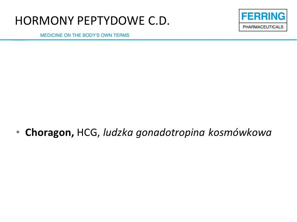 Choragon, HCG, ludzka gonadotropina kosmówkowa HORMONY PEPTYDOWE C.D.
