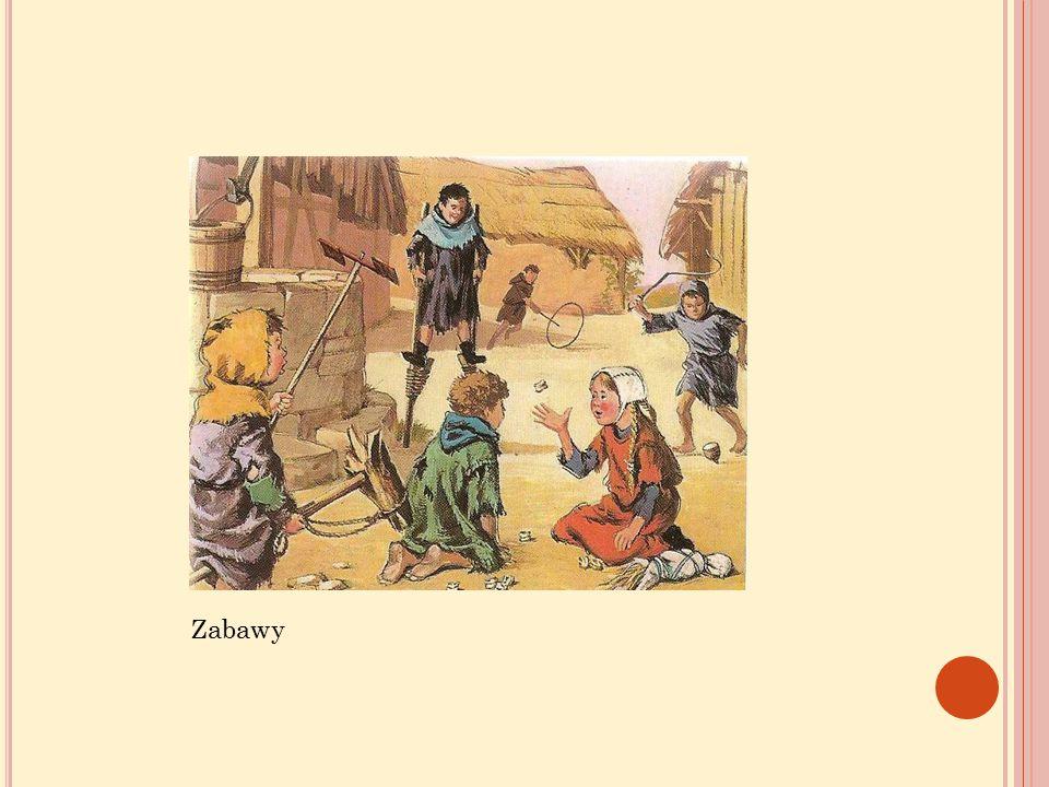 Dzieci bawiły się na świeżym powietrzu; budowały młyny i tamy z ziemi i patyków lub domy i zamki z piasku.