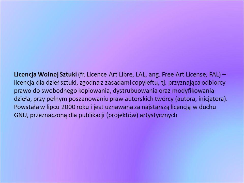 Licencja Wolnej Sztuki (fr. Licence Art Libre, LAL, ang. Free Art License, FAL) – licencja dla dzieł sztuki, zgodna z zasadami copyleftu, tj. przyznaj
