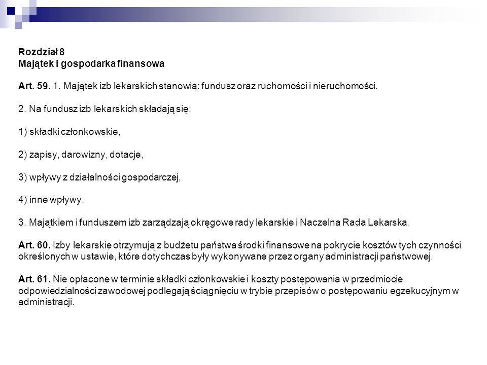 Rozdział 8a Obowiązki informacyjne Art.61a. 1.